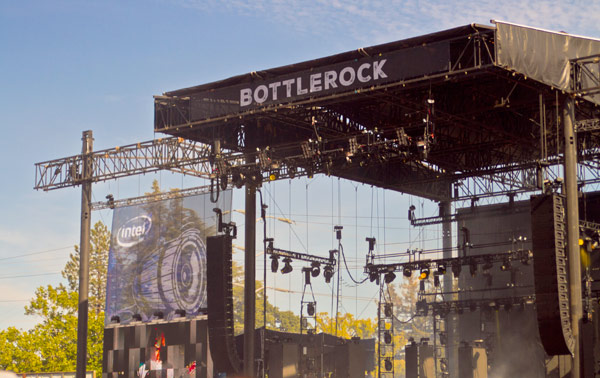 Image of the stage set at the Bottlerock Napa Valley 2015 festival