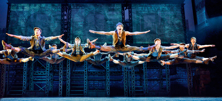 image of a Newsies dance ensemble