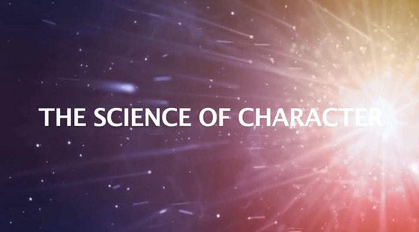 Image of title screen for the Science of Character
