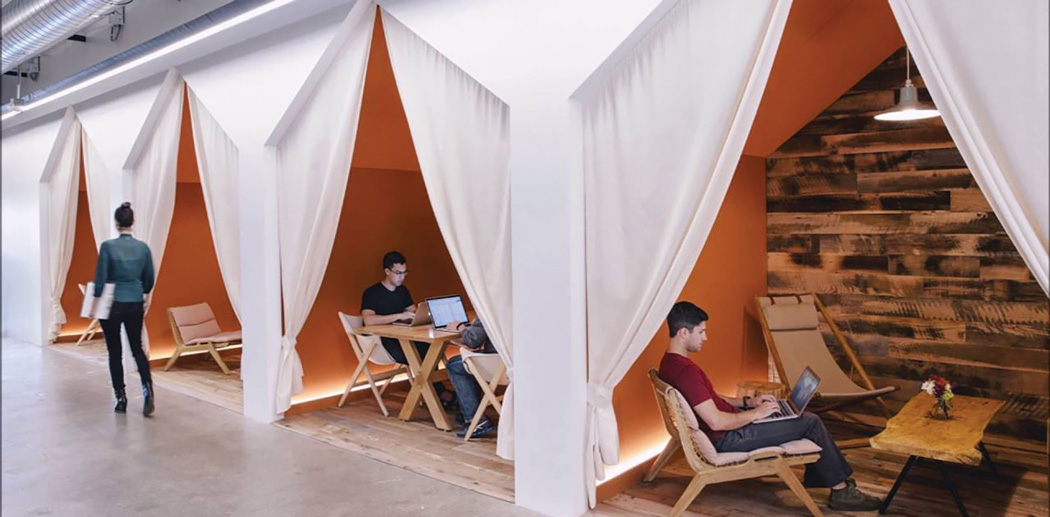 Image of staff 'cubicles' at Airbnb