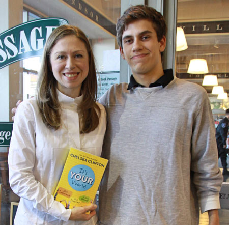 photo of Chelsea Clinton and reporter Matt Geffen