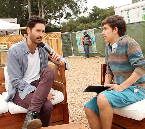 Image of Ryan Merchant of Capital Cities and FastForward reporter Matt Geffen