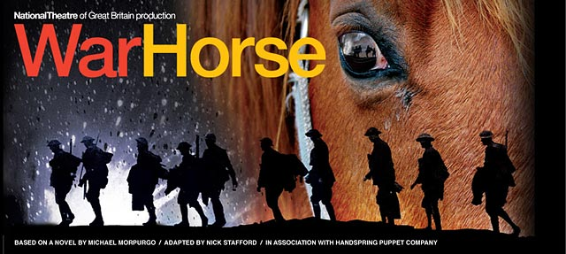 Image of the War Horse show banner