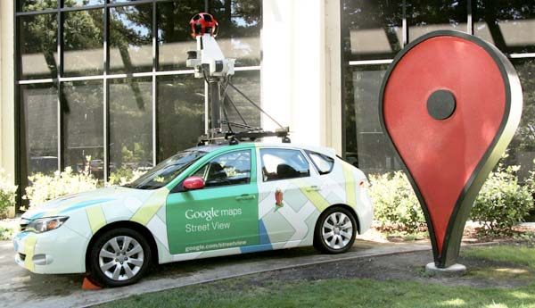 Image of one of Google's cars used to capture images for Google Maps Street View