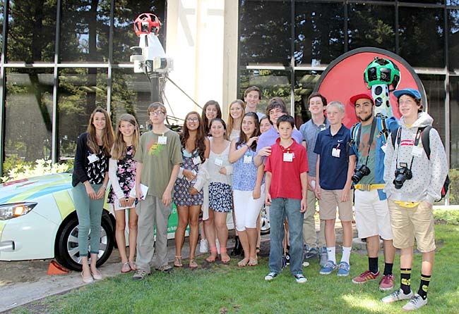 Image of the FastForward Adventure Reporters on site at Google headquarters