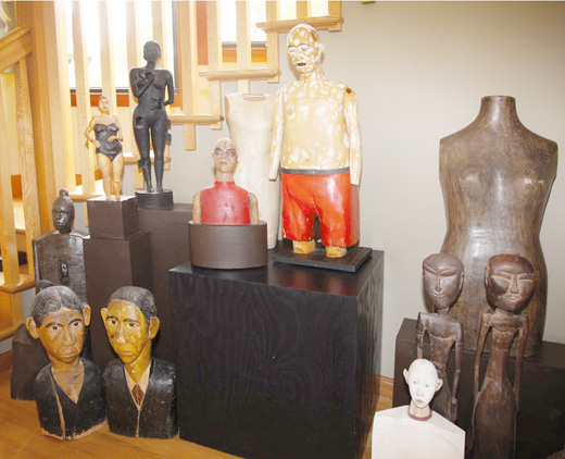 Image showing a number of Joe Brubaker's sculpture pieces